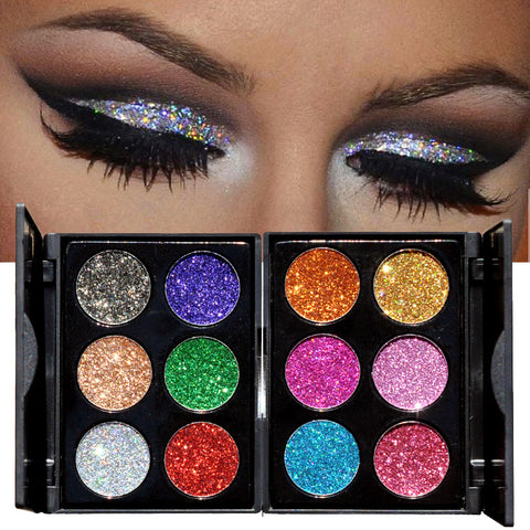 30pcs Mixed Colors Glitter Eyeshadow  Pigment Mineral Powder