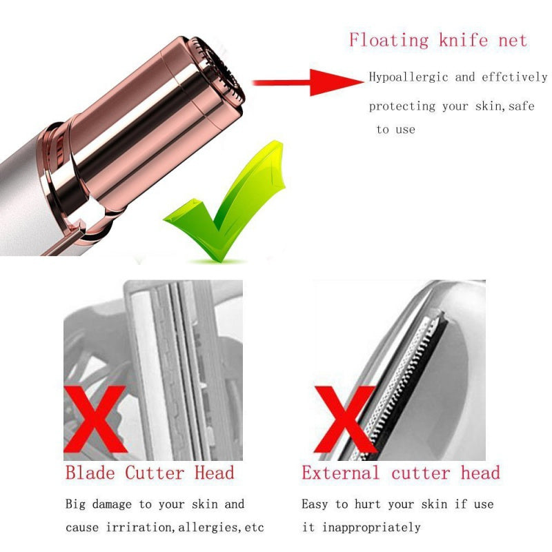 NAKEHOUSE-Flawless Finishing Touch Painless Hair Remover Instant Epilator,Tools