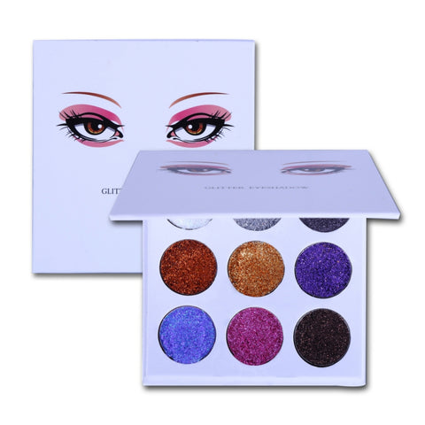 Beauty Pressed Diamond Glitters Shimmer and Matte Makeup Eyeshadow Palette