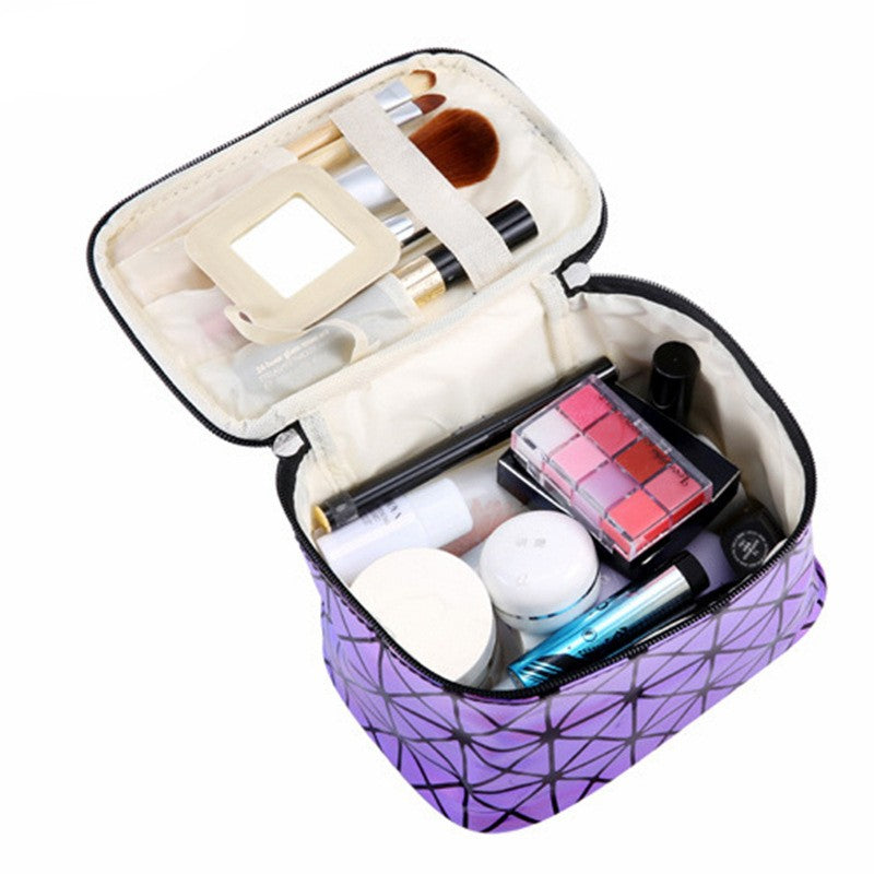 NAKEHOUSE-Bright Diamond Travel Cosmetic Makeup Organizer Bag,Storage