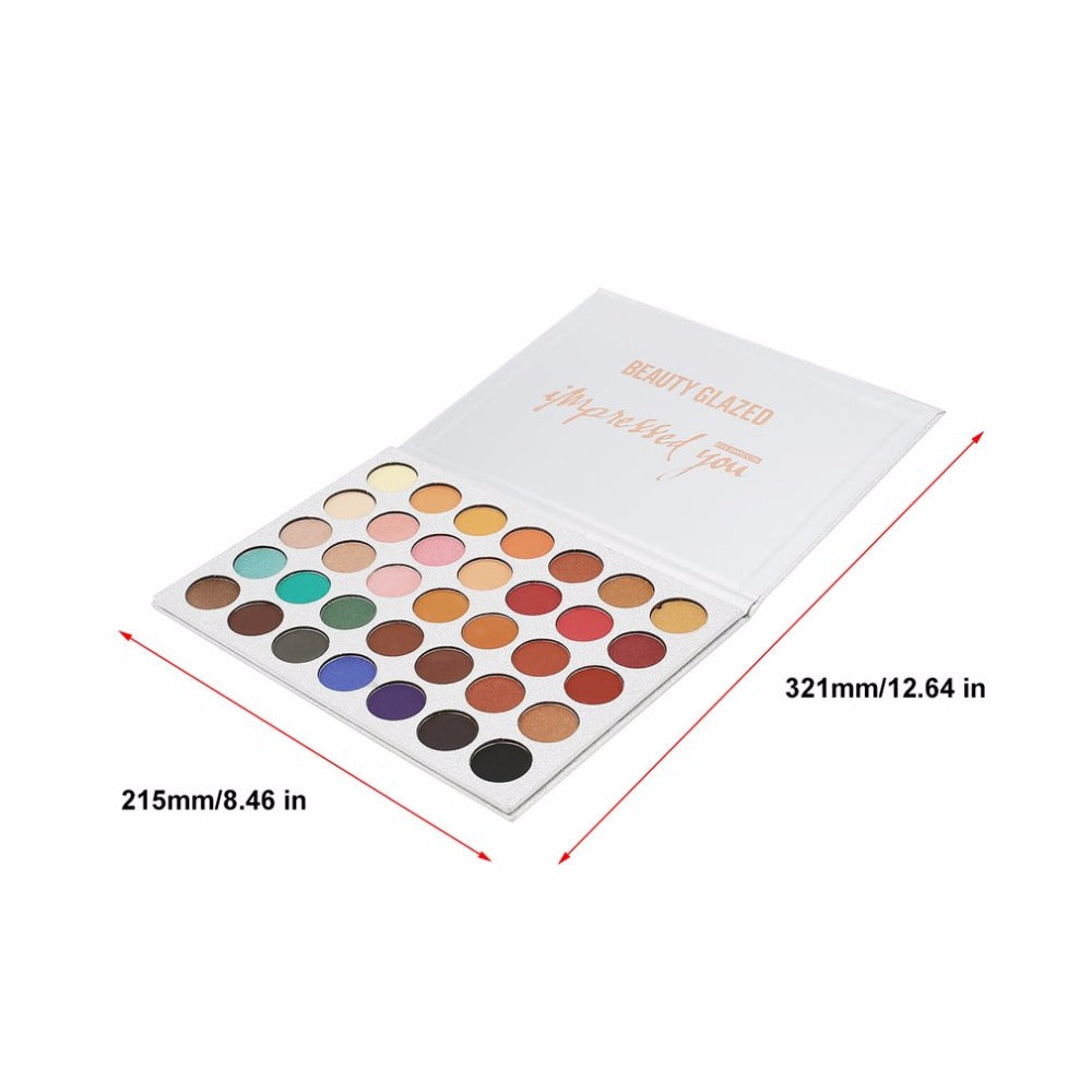 NAKEHOUSE-BEAUTY 35 Colors Pressed Powder Luminous Matte Shimmer Eye Shadow Palette,Eye shadow