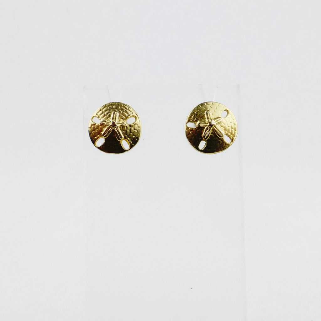 Gold-tone Sanddollar Stud Earrings