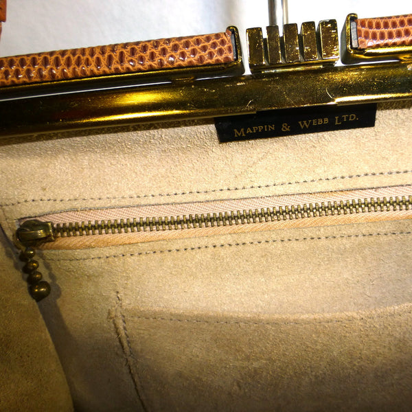 Mappin and Webb Brown Handbag