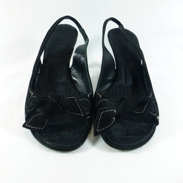 Bally Black Slingback Shoes. Size 36