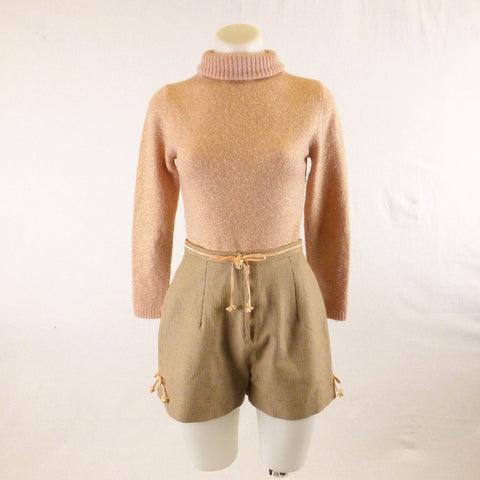 Homemade Caramel Shorts with Bows. Sz XS