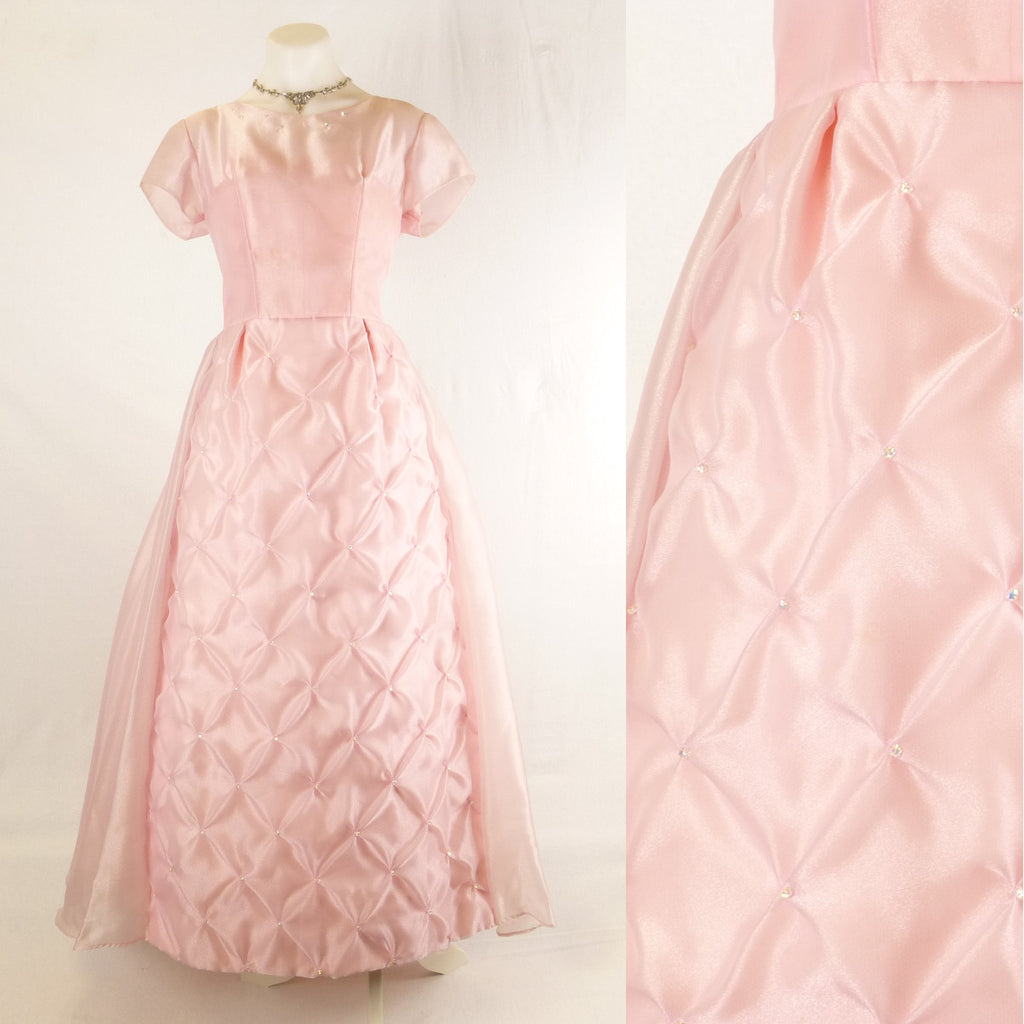 Pink Full Length Ball Gown. Size M