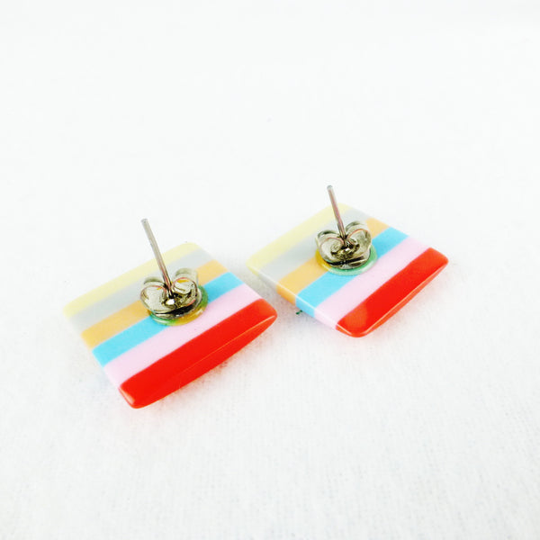 Candy Coloured Resin Earrings