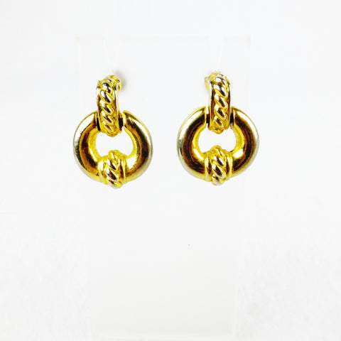 Gold-tone Door-knocker Earrings