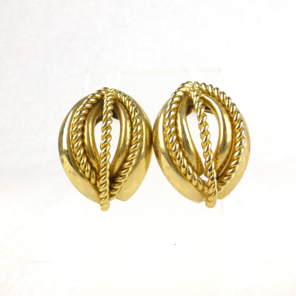 Gold-tone Oval Earrings