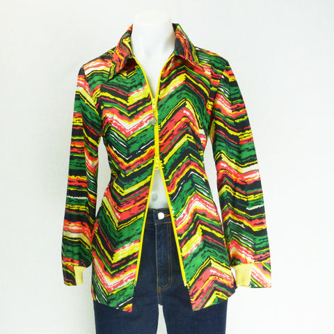 Cober Knit Psychadelic Shower Jacket. Sz S/M