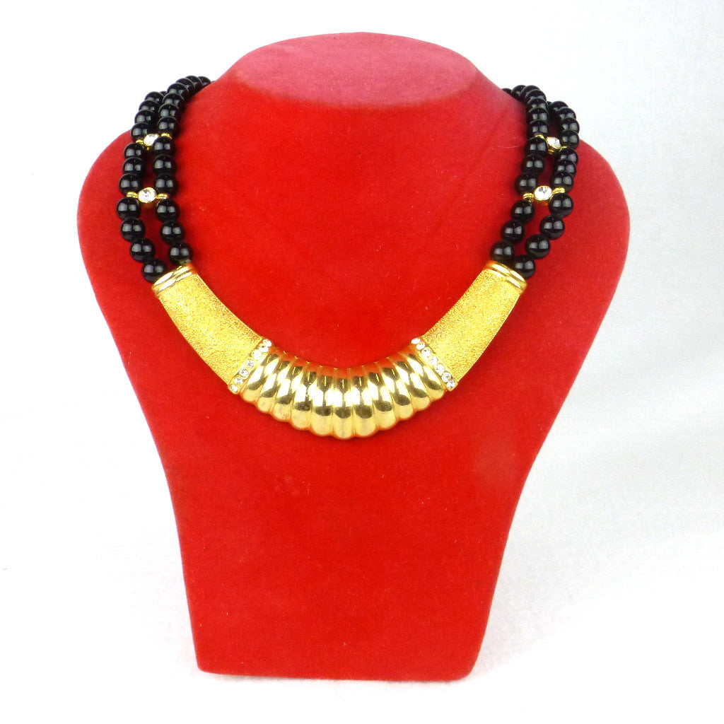 Black and Gold Statement Choker