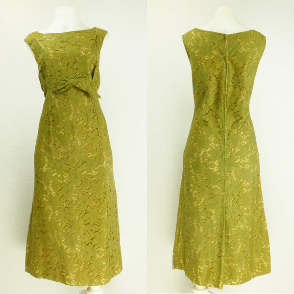 Olive Lace Ballgown Homemade. Sz XL