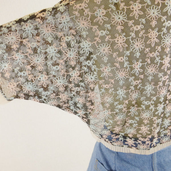Floral Embroidered Lace Bolero. Size S