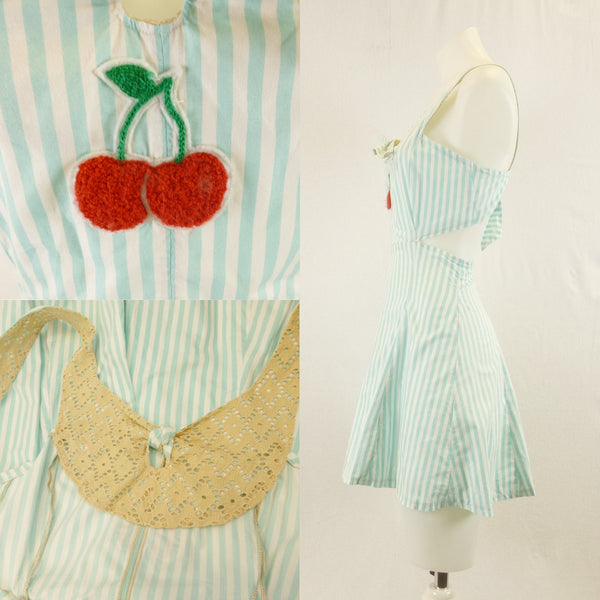 Homemade Mint Cherry Playsuit. Sz S