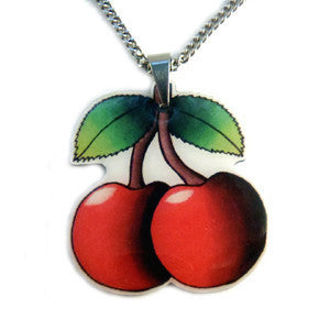 Cherry Pendant Necklace.