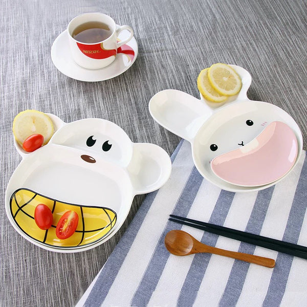 2-pc Animal Kids Plate