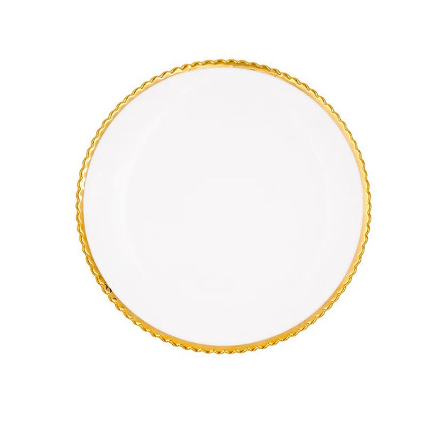 Savannah Gold Rim Plate