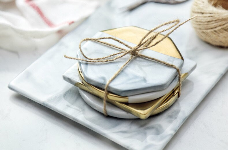Marble & Gold Coaster