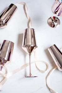 Rose Gold Wine Glass & Champagne Flute