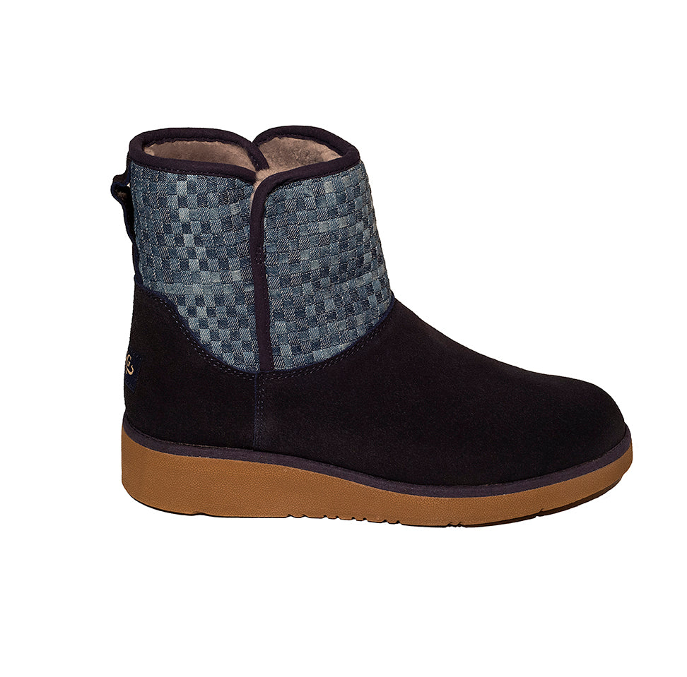 Classic Ultra Short Ugg with Sock and Wedge Sole Black