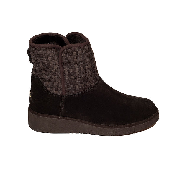 Classic Ultra Short Ugg with Sock and Wedge Sole Brown