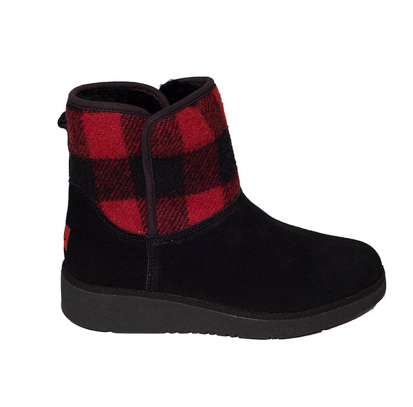 Classic Ultra Short Ugg with Sock and Wedge Sole Red