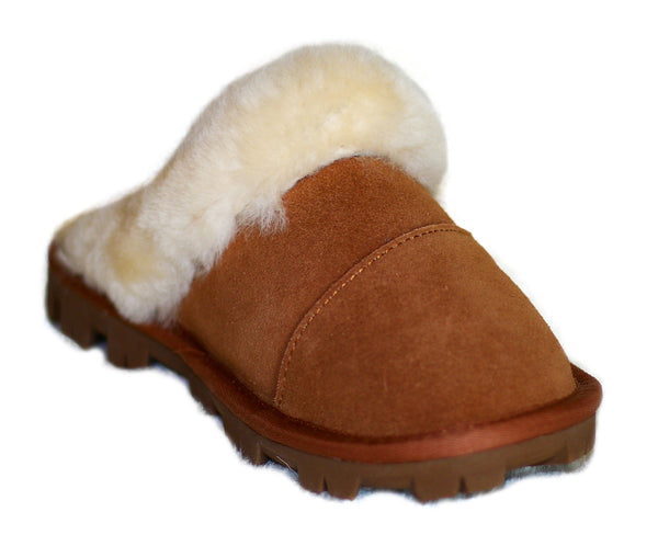 UGG Slipper Thick Sole Chestnut