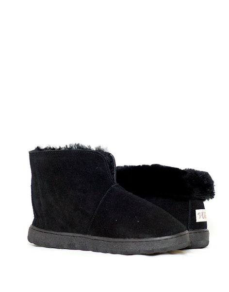 "Ankle Boot 5"" Ultra Short UGG with stitch sole Black"