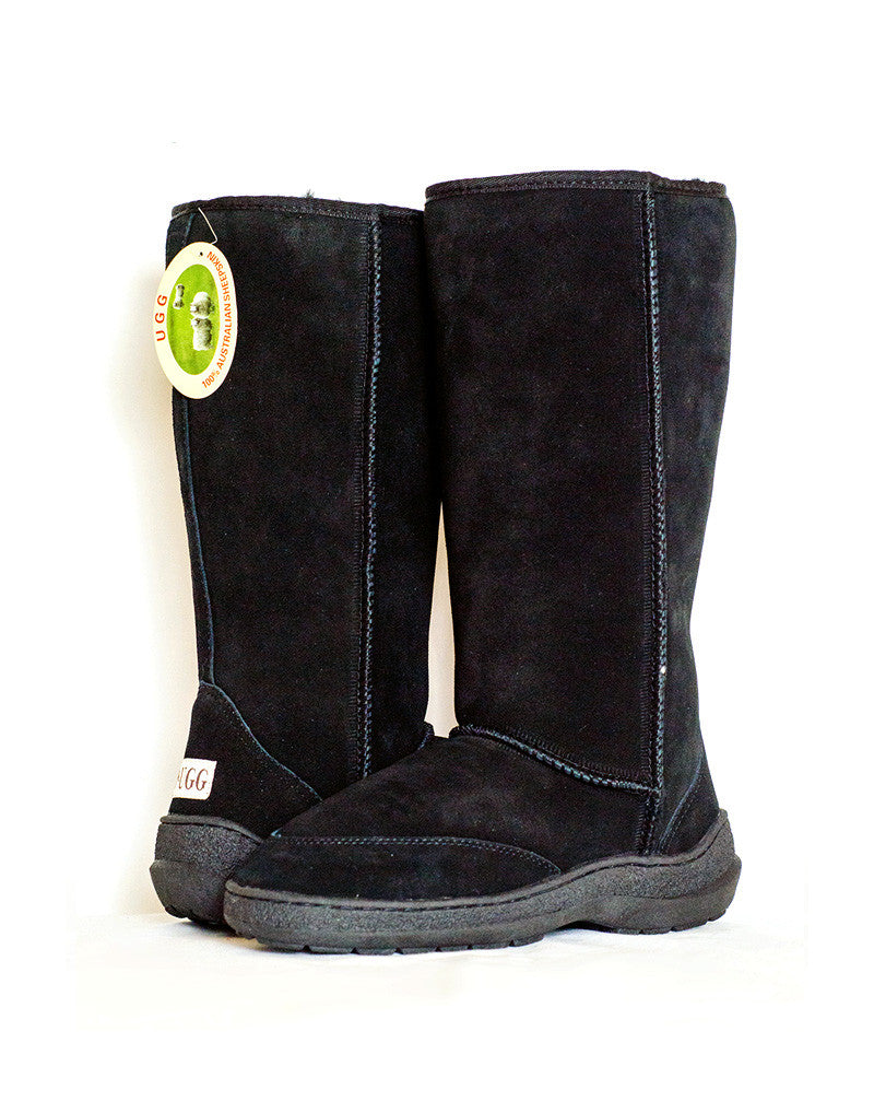 "Millers Classic Tall 14"" UGG with stitched sole Black"