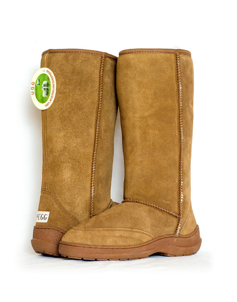 "Millers Classic Tall 14"" UGG with stitched sole Chesnut"