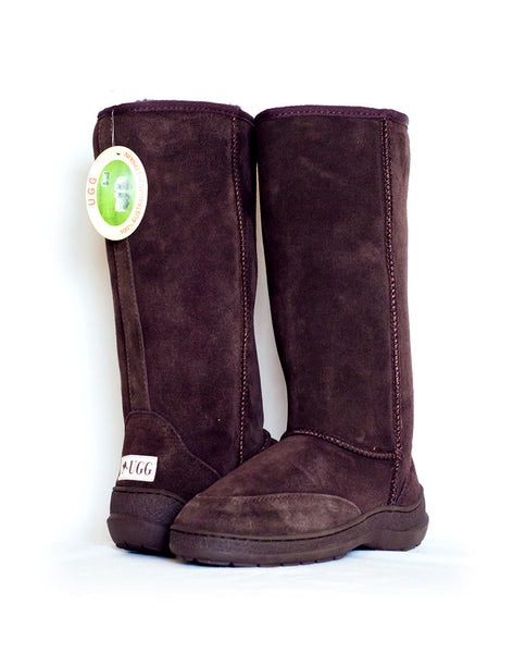 "Millers Classic Tall 14"" UGG with stitched sole Brown"