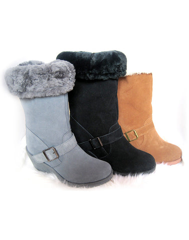 "1-Buckle Heeled Tall 14"" UGG"