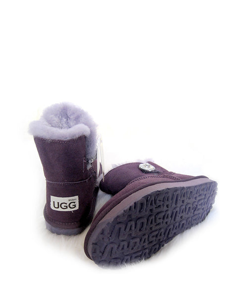 "Bailey 1 Glass Button 5"" Ultra Short UGG Violet"