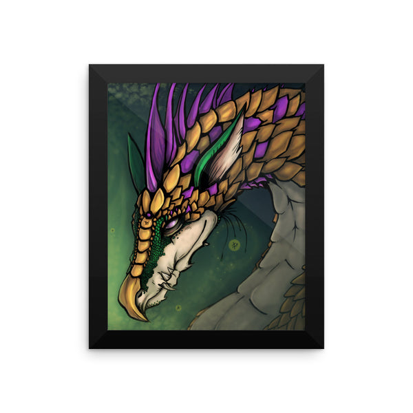 Dragon of Good Fortune Framed - Tigiris Illustrations