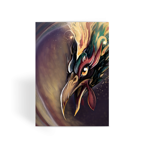 Fire Rooster - Greeting Card