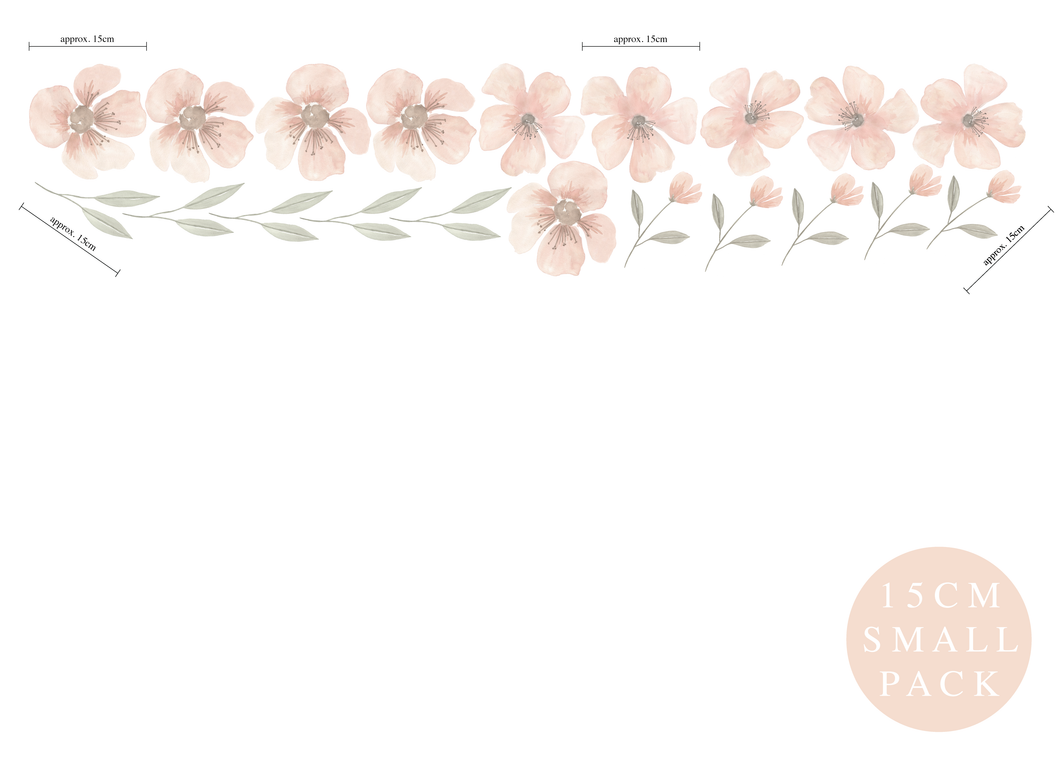 Floral Removable Fabric Wall Decals