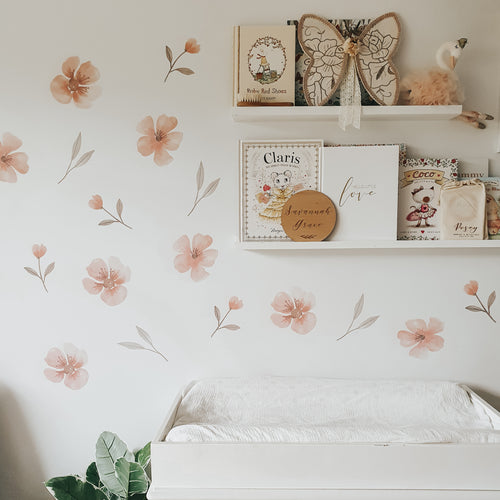 Floral Fabric Wall Decals