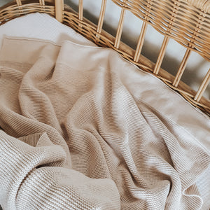 PRE-ORDER Classic Knit Blanket - 100% Cotton