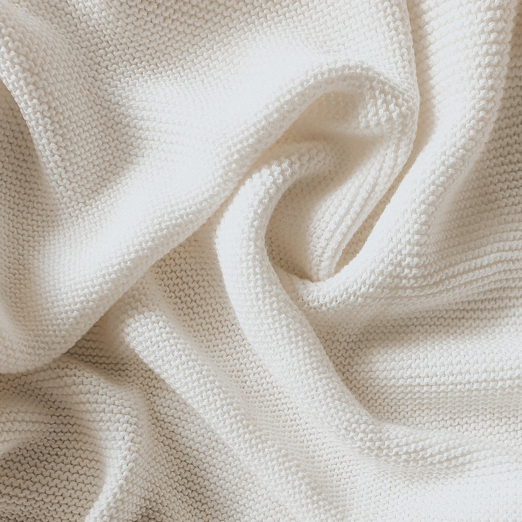 Heirloom Classic Knit Blanket - 100% Cotton