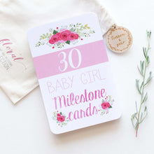 Load image into Gallery viewer, Baby Milestone Cards - Floral Collection - Blossom and Pear