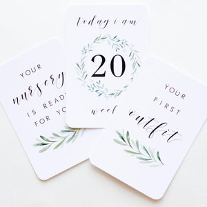 Pregnancy Milestone Cards - Lush Collection - Blossom and Pear