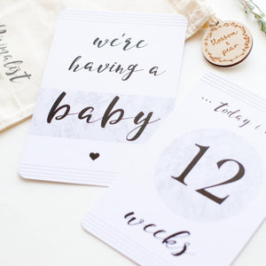 Pregnancy Milestone Cards - The Minimalist Collection - Blossom and Pear