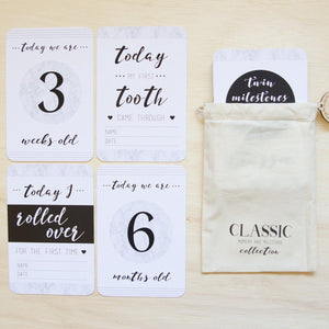 Twin Baby Milestone & Moment Classic Collection Milestone Cards Blossom and Pear