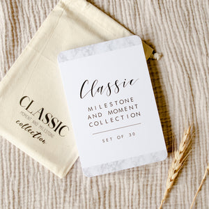 Baby Milestone Cards - Classic Monochrome Collection