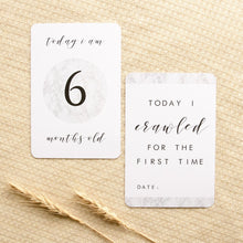 Load image into Gallery viewer, Baby Milestone Cards - Classic Monochrome Collection Milestone Cards Blossom and Pear