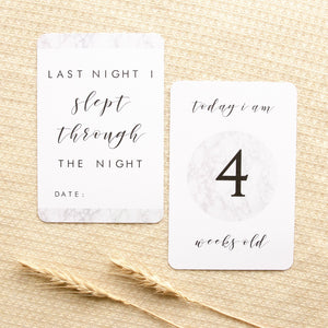 Baby Milestone Cards - Classic Monochrome Collection Milestone Cards Blossom and Pear