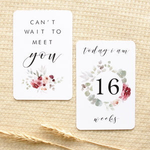 Pregnancy Milestone Cards - Fleur Collection Milestone Cards Blossom and Pear