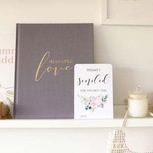 Baby Milestone Cards - Wildflower Collection