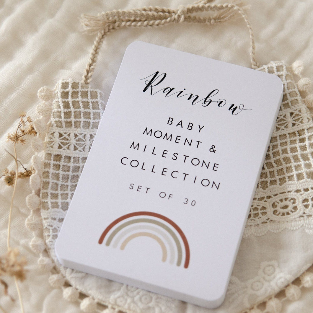 Baby Milestone Cards - Rainbow Collection