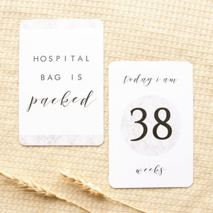 Pregnancy Milestone Cards - The Minimalist Collection Milestone Cards Blossom and Pear